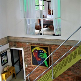 The Bright House Villa - Stairs to second floor